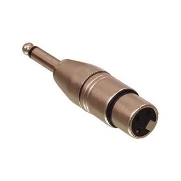 3p XLR naar 6.3mm Jack Verloop Stekker