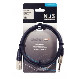 New Jersey Sound Male XLR Male naar 6.35mm Mono Jack Microfoonkabel