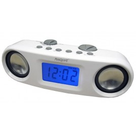 MP3-luidspreker met AM / FM LCD-alarmklok