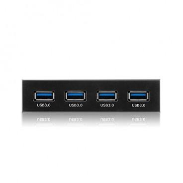 "ICY BOX IB866 3.5 ""front -adapter met 4-poorts USB 3.0-poort"