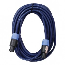 HQ Professionele Speakon - Speakon Kabel 15M, 2X2.5mm2