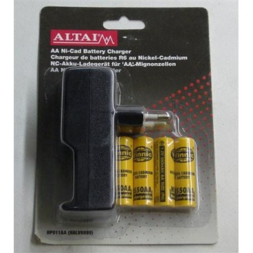 Altai Penlight Lader Inclusief 4x NI-CDs AA Batterijen, 550ma
