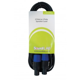 SoundLAB Premium 2-polige connector naar 2-polige connector Luidsprekerkabel 2x 0,75 mm kabel Extra flex-kabel