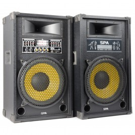 "SkyTec SPA1200Y PA Actieve speakerset 12"" USB-SD Speakers"