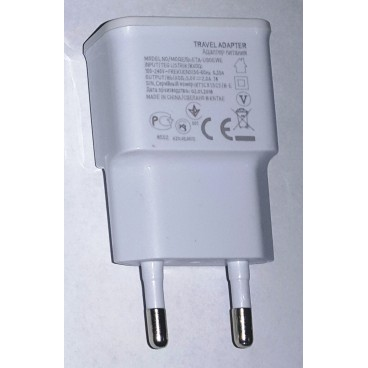 USB AC oplader 2A wit