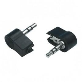 Haakse 3.5mm Stereo Mini Jack Stekker