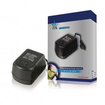 HQ Spanningsomvormer 230 VAC - AC 110 V 0.6 A/75watt