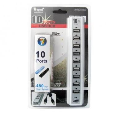 High Speed Actieve 10 Ports USB 2.0 HUB