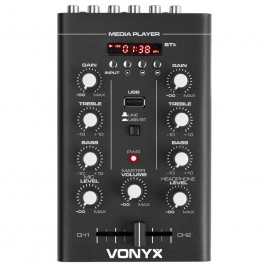 Vonyx STM500BT 2-Kanaals Mixer USB / MP3 / Bluetooth