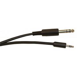 Standaard 6,35 mm stereo jack plug naar 3,5 mm stereo jack plug gescreend lead