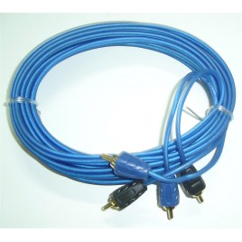 Triple Afgeschermde 5m Tulp / RCA kabel, Zeer Flexibel