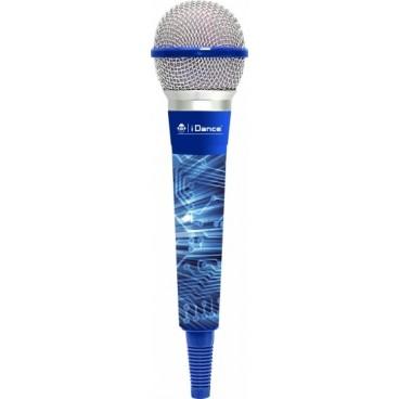 iDance Blauwe Microfoon met 4 meter Kabel