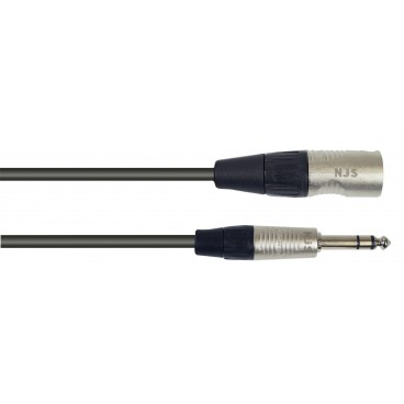 XLR Male naar 6.35mm Mono Jack Microfoonkabel 1m
