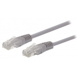 Valueline CAT5e Netwerkkabel RJ45 (8/8) Male 0.50 m Grijs