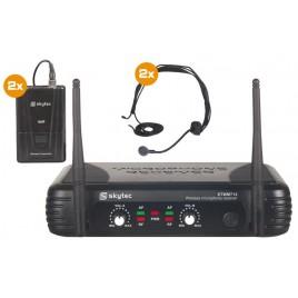 Vonyx 2-kanaals VHF Draadloos Microfoonsysteem met 2 headsets
