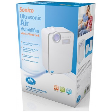 Prem-i-air Sonico ultrasone luchtbevochtiger met 5 L watertank
