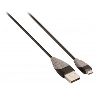 Bandridge 3m micro-usb data & laad kabel