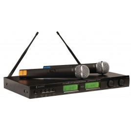 Konig 16-Kanaals dubbel Draadloze Microfoon Set