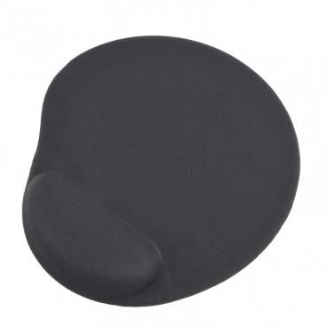 Muismat met gel polssteun, zwart