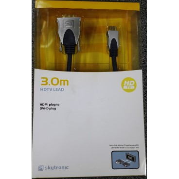 Skytronic High-End HDMI-DVI Kabel, 3.0 meter