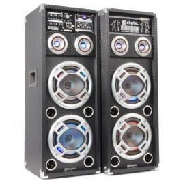 "SkyTec Actieve Speakerset 2x10"" USB / RGB LED 1600w"