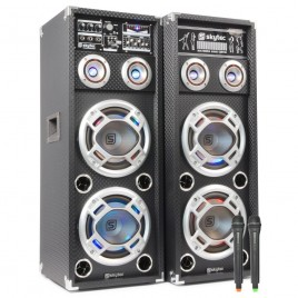 "SkyTec Actieve Speakerset 2x10"" USB/VHF 178.534"