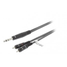 SWEEX Stereo Audiokabel 6.35 mm Male - 2x RCA Male 3.0 m Donkergrijs