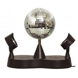 Cheetah LED Mirror Ball Kit met 125 mm Zilveren Mirror Ball en Rotator