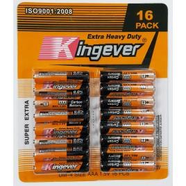 Kingever 16-pak AAA / UM-4 Batterijen
