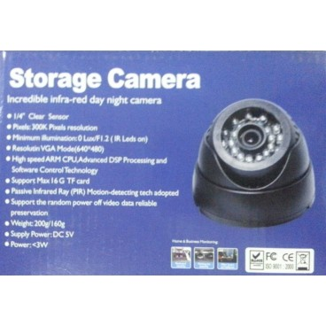 Micro SD TF Dome Camera Ingebouwde DVR