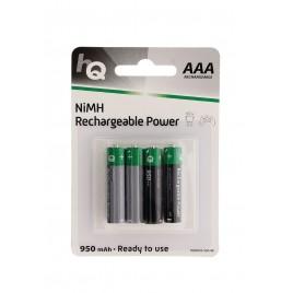 HQ Oplaadbare NiMH Batterij AAA 1.2 V 950 mAh 4-Blister