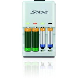 STRONG Lader voor Wegwerpbatterijen AA & AAA (Alkaline) en accu's (Ni-MH en Ni-Cd)