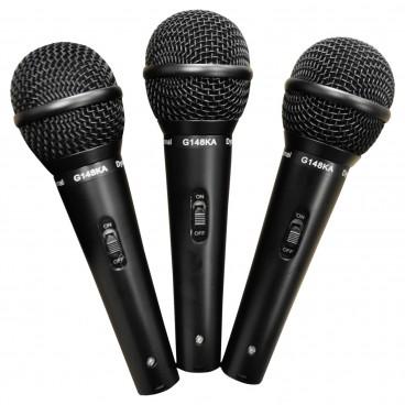 Soundlab Dynamisch 3 delige microfoonkit met, kabels