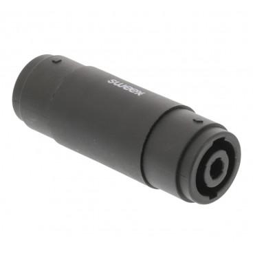 Sweex Mono-Audio-Adapter Speaker 4-Pins Male - Speaker 4-Pins Male Zwart