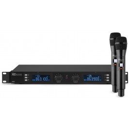 PD632H 2X 20-KANAALS DIGITAAL UHF DRAADLOOS MICROFOONSYSTEEM MET 2 MICROFOONS