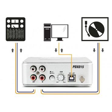 power dynamics PDX015 USB PHONO VOORVERSTEKER MET SOFTWARE