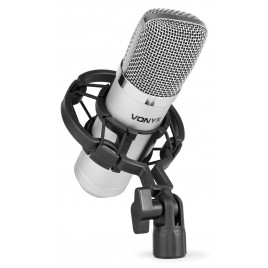 vonyx CM400 Studio Condensator Microfoon Zilver