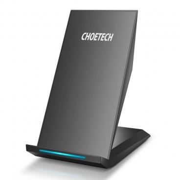 Choetech - Draadloze snellader voor Smartphones - 2 Coils - Fast Charge Technologie - 10W - LED-indicator - Zwart