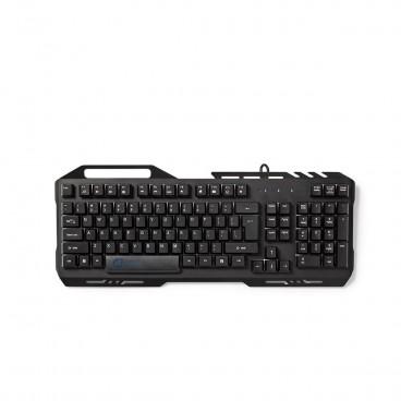 Nedis Gaming-toetsenbord | RGB-verlichting | USB 2.0 | US International | Metalen design