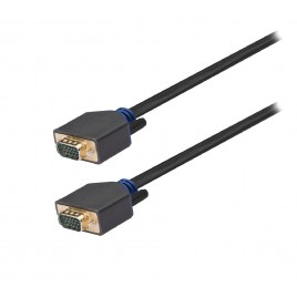 König VGA Kabel VGA Male - VGA Male 10.0 m Antraciet