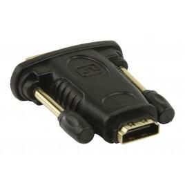 DVI - HDMI adapter DVI mannelijk - HDMI vrouwelijk zwart