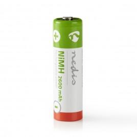 Nedis Oplaadbare NiMH batterij AA | 1,2 V | 2600 mAh | 4 stuks