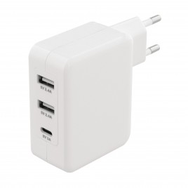 Sweex Lader 3-Uitgangen 4.8 A 2x USB / USB-C™ Wit