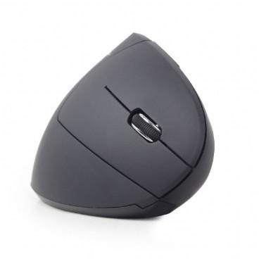 Gembird MUSW-ERGO-01 Ergonomische draadloze optische muis met 6 knoppen, zwart