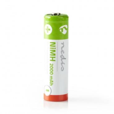 Oplaadbare NiMH batterij AA   1,2 V   2000 mAh   4 stuks   Blister