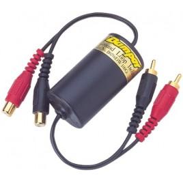 Aardlusisolator voor gebruik in auto-, professionele en huishoudelijke audiosystemen