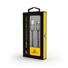 8-Pin Lightning kabel katoen, 1.8 meter zwart, Blister