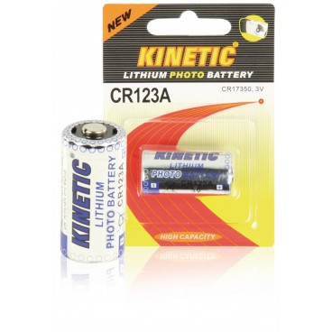 Kinetic Lithium Batterij CR123A 3 V 1-Blister
