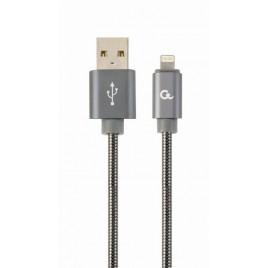 Premium 8-pin laad- & datakabel 'metaal', 1 m, metallic-grijs
