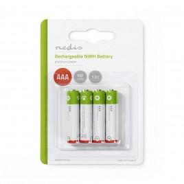 Nedis Oplaadbare NiMH batterij AAA | 1,2 V | 950 mAh | 4 stuks